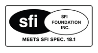 Meets SFI Specification 18.1.
