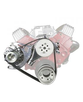 TSP Gilmer Front Drive Kit Chevy Small Block Long Water Pump DS35002 DS35002C Chrome