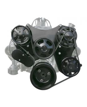 TSP_Chevy_Small_Block_Front_Drive_System_Serpentine_Black_DS35014X
