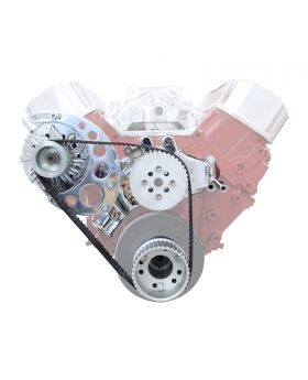 TSP Gilmer Front Drive Kit Chevy Big Block Long Water Pump DS45404 DS45404C Chrome