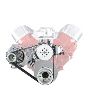TSP Gilmer Front Drive Kit Chevy Big Block Long Water Pump DS45405 DS45405C Chrome