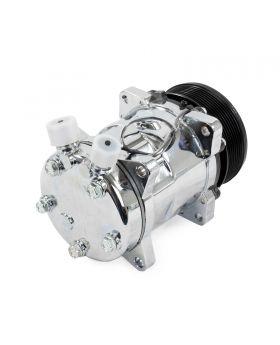 TSP_Chrome_Sanden_508_Compressor_Black_Serpentine_Clutch_Rear_HC5002