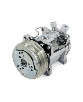 TSP_Chrome_Sanden_508_Compressor_Silver_V-belt_Clutch_HC5003