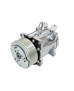 TSP_Chrome_Sanden_508_Compressor_Silver_Serpentine_Clutch_HC5004