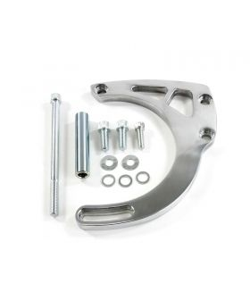 TSP_Aluminum_Chevy_Small_Block_Long_Water_Pump_Alternator_Bracket_Polished_JM9131
