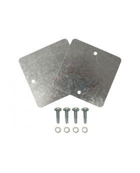 TSP_Baffles_Ford_Small_Block_Short_Aluminum_Valve_Covers_White_Zinc_SP2131
