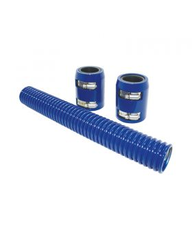 TSP_Flexible_Radiator_Hose_With_Caps_12-Inch_Blue_Stainless_Steel_SP6352