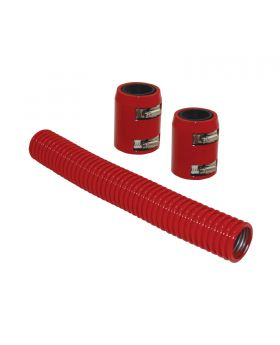 TSP_Flexible_Radiator_Hose_With_Caps_12-Inch_Red_Stainless_Steel_SP6353