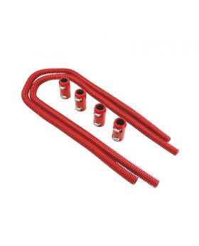 TSP_Flexible_Heater_Hose_Without_Caps_44-Inch_Red_Stainless_Steel_SP6365
