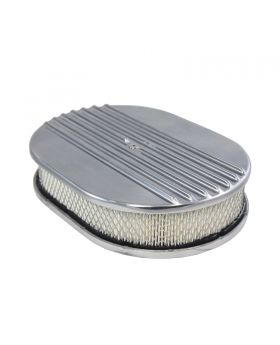 TSP_Flat_Base_12_Oval_Air_Cleaner_Kit_Half_Finned_Polished_Aluminum_SP6490