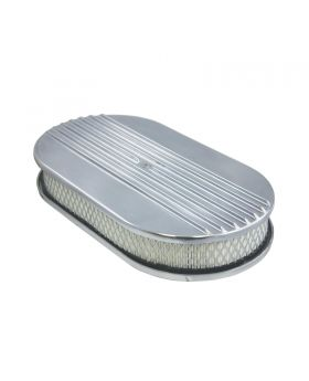 TSP_Flat_Base_15_Oval_Air_Cleaner_Kit_Half_Finned_Polished_Aluminum_SP6491