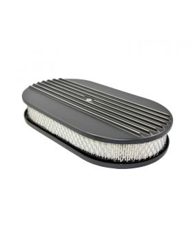 TSP_Flat_Base_15_Oval_Air_Cleaner_Kit_Half_Finned_Black_Aluminum_SP6491BK