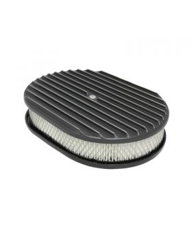 TSP_Flat_Base_12_Oval_Air_Cleaner_Kit_Finned_Black_Aluminum_SP6498BK