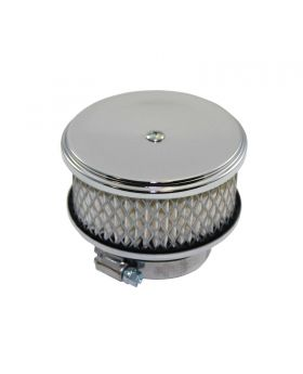 TSP_4_Round_Flat_Base_Deep_Dish_Style_Air_Cleaner_Top_Chrome_Steel_SP7151