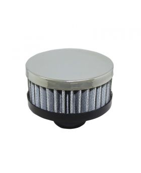 TSP_Round_1.25_Push-In_Washable_Filter_Shorty_Breather_Chrome_Steel_SP7192