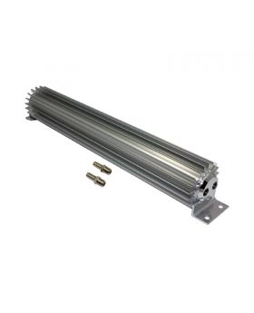 TSP_18_Finned_Aluminum_Dual_Pass_Heat_Sink_Transmission_Cooler_Clear_Anodized_SP7367