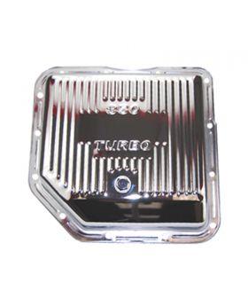 TSP_GM_Turbo_350_Transmission_Pan_Raised_Finned_Chrome_Steel_SP7491