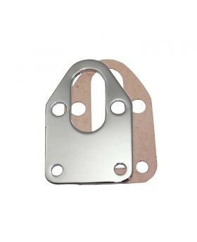 TSP_Chevy_Small_Block_V8_262-400_Fuel_Pump_Mounting_Plate_Chrome_Steel_SP7623