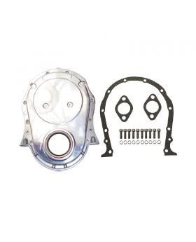 TSP_Chevy_Big_Block_Long_Water_Pump_Timing_Chain_Cover_Kit_Polished_Aluminum_SP8422KIT