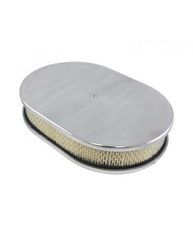 TSP_Flat_Base_Paper_Filter_12_Oval_Air_Cleaner_Kit_Smooth_Polished_Aluminum_SP8444