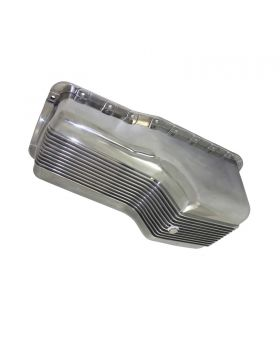 TSP_Ford_Small_Block_Front_Sump_Engine_Oil_Pan_Polished_Finned_Aluminum_SP8445
