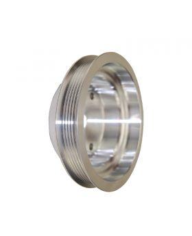 TSP_Chevy_Small_Block_Short_Water_Pump_Crankshaft_Pulley_Serpentine_Satin_Aluminum_SP8821