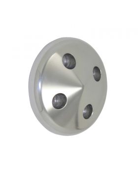 TSP_Chevy_Small_Block_Short_Water_Pump_Nose_Cone_Pulley_Cover_Natural_Aluminum_SP8863